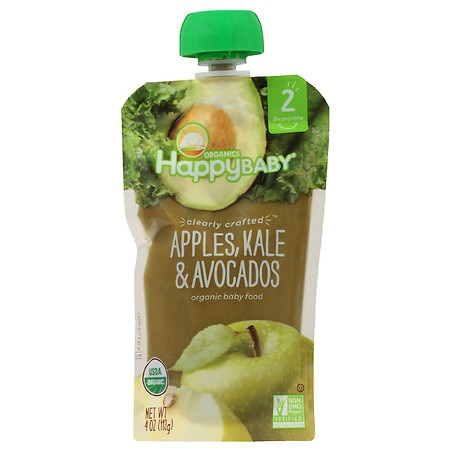 Happy Baby Clearly Crafted Baby Food Apple/Kale/Avocado - 4 oz.