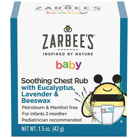 Zarbee S Naturals Soothing Baby Chest Rub Walgreens