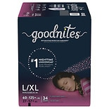 GoodNites Bedtime Bedwetting Underwear for Girls L/ XL
