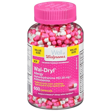 Walgreens Wal-Dryl Allergy Relief Capsules - 600