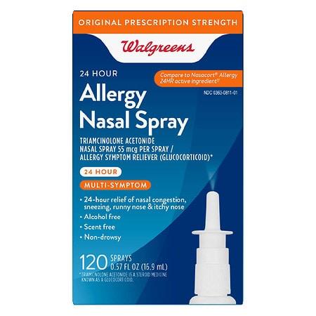 Walgreens Allergy Nasal Spray 120 Sprays - 0.57 oz.