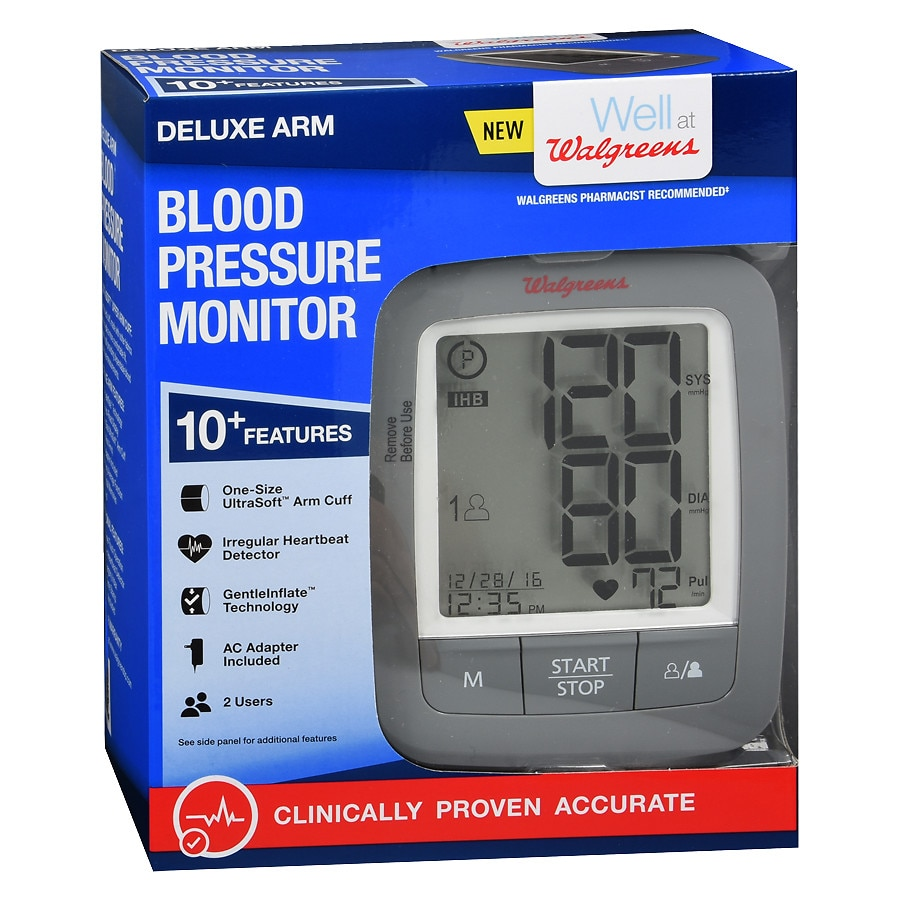 Walgreens Deluxe Arm Blood Pressure Monitor 2016 Walgreens