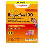 Walgreens Ibuprofen Children's Suspension 100 mg Bubblegum