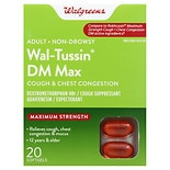 Walgreens Wal-Tussin DM Max Cough & Chest Congestion Softgels