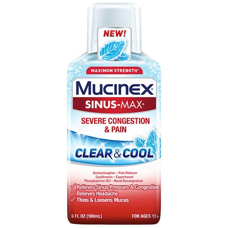 MucinexDM Clear & Cool Sinus Max Severe Congestion - 6 oz.