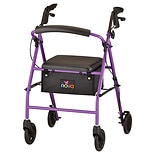 Nova Vibe Steel Rolling Walker with 6-inch Wheels Purple