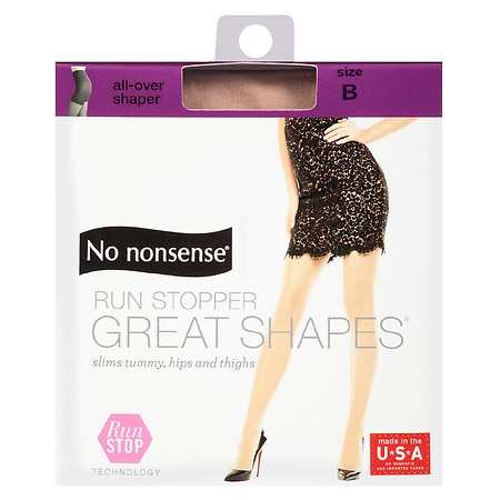 No Nonsense Great Shapes Run Stop Pantyhose B - 1 ea