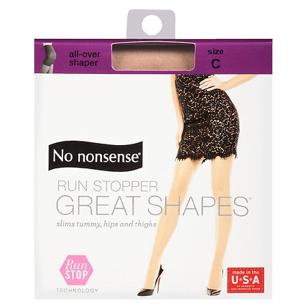 No Nonsense Great Shapes Run Stop Pantyhose C - 1 ea