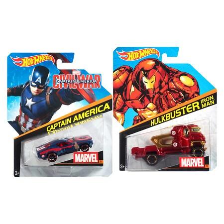 Hot Wheels Marvel Car Assortment - 1 ea