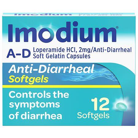 Imodium A-D Anti-Diarrheal Softgels - 12 ea