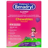 Children's Benadryl Children's Allergy Chewables Grape