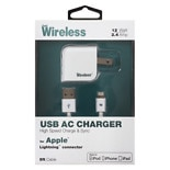 Just Wireless A/ C Charger USB Apple Lightning 2.1A 04167 White