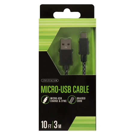 Infinitive Braided Micro Cable 10 Foot - 1 ea