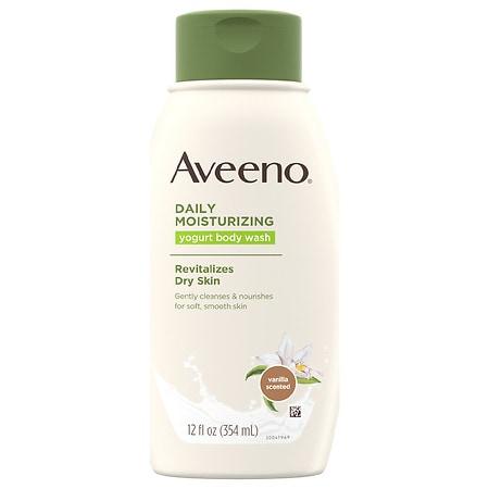 Aveeno Daily Moisturizing Yogurt Body Wash Vanilla - 12 fl oz