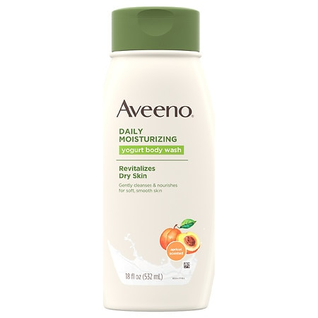 Aveeno Daily Moisturizing Yogurt Body Wash With Apricot Apricot and Honey - 18 oz.