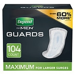 Depend Incontinence Guards for Men, Maximum Absorbency 104 count