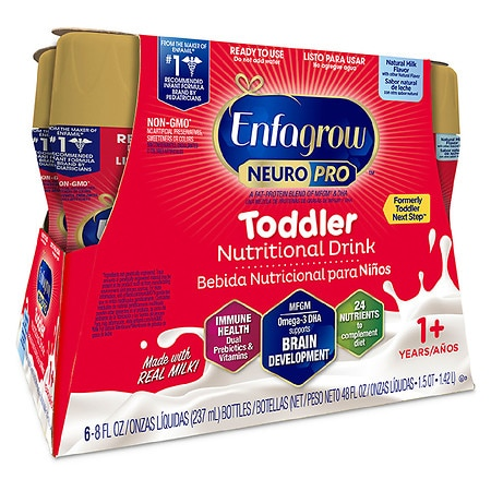 Enfagrow Toddler Next Step Ready To Use Natural Milk Flavor - 8 oz. x 6 pack