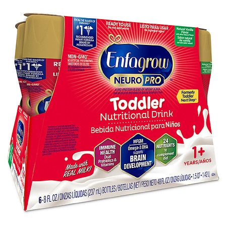 Enfagrow Toddler Next Step Ready To Use Vanilla - 8 oz. x 6 pack