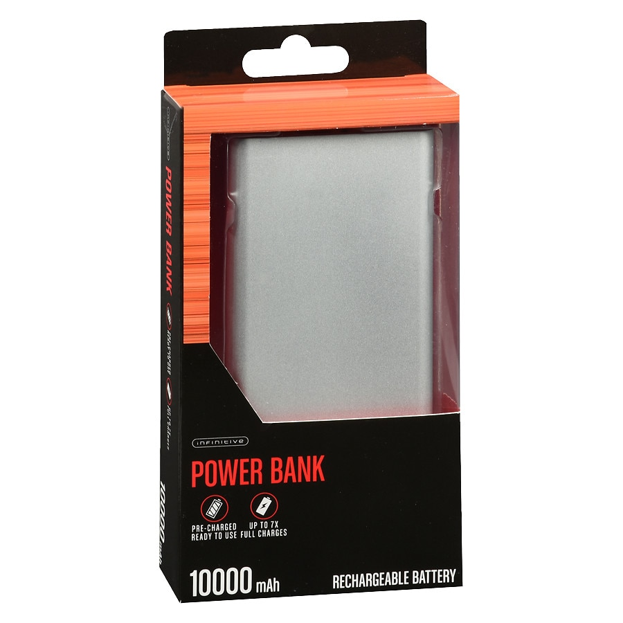 new product 9777a 45998 Infinitive Power Bank 10000 MAH Silver