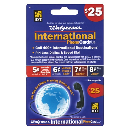 IDT $25 International Phone Card - 1 ea