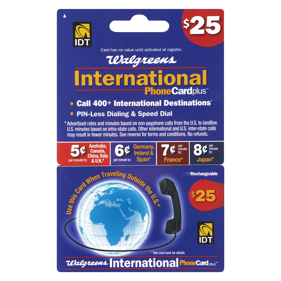 idt 25 international phone card10 ea - Where To Buy International Calling Cards