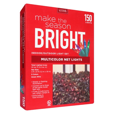 Living Solutions Net Lights 150 Count - 150 ea