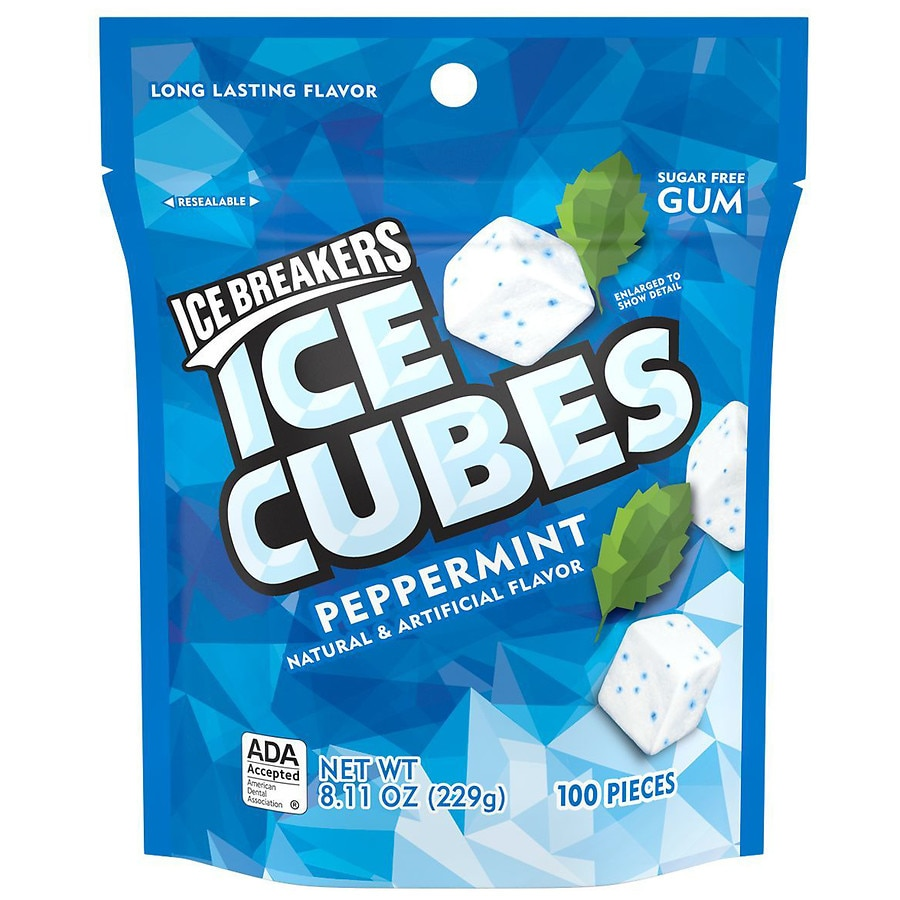 Ice Breakers Ice Cubes Mints Pouch Peppermint Walgreens