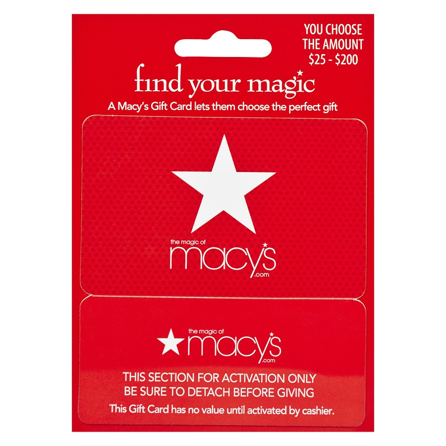 Macy S Non Denominational Real Time Snap Gift Card Walgreens