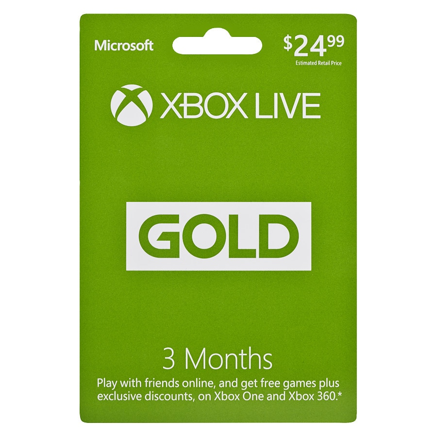 Microsoft Xbox $24 99 3 Month Subscription Gaming Gift Card | Walgreens