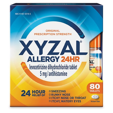 XYZAL Allergy Medicine - 80 ea