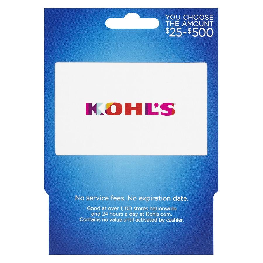 Kohl\'s Non-Denominational S16 Gift Card | Walgreens