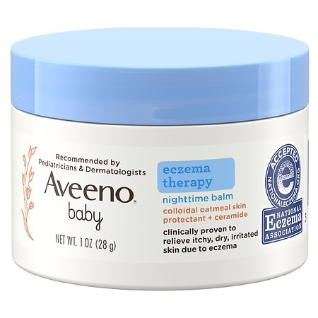 Aveeno Baby Eczema Therapy Nighttime Balm With Natural Oatmeal - 1 oz.