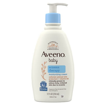 Aveeno Baby Eczema Therapy Moisturizing Cream With Natural Oatmeal - 12 fl oz