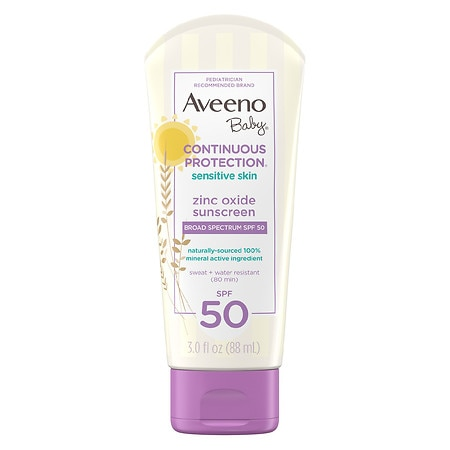 Aveeno Baby Continuous Protection Zinc Oxide Mineral Sunscreen - 3 fl oz