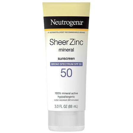 Neutrogena Sheer Zinc Dry-Touch Sunscreen Lotion With SPF 50 - 3 fl oz