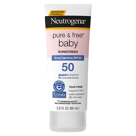 Neutrogena Pure & Free Baby Mineral Sunscreen With SPF 50 Fragrance Free - 3 fl oz
