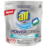 18-Pks. of All POWERCORE Laundry Detergent (3 types)