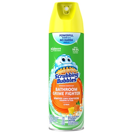 Scrubbing Bubbles Bathroom Cleaner Spray Lemon Walgreens