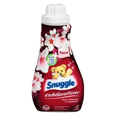 Snuggle Exhilarations Fabric Softener Cherry Blossom & Rosewood - 32 oz.