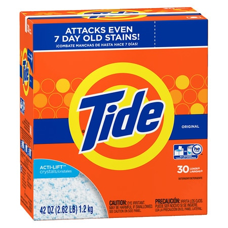 Tide He Laundry Detergent Powder Original 42 Oz.