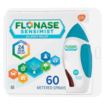 Flonase Sensimist 24hr Allergy Relief Nasal Spray Scent Free, 60 Sprays - 60 ea