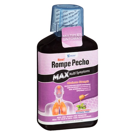 Rompe Pecho Multi-Symptom Maximum Strength Cough Syrup - 8 oz.