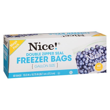 resealable freezer bags gallon