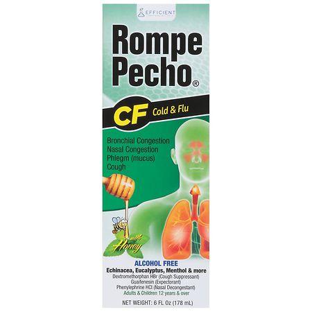 Rompe Pecho CF Cough Suppressant Decongestant Honey - 6 fl oz