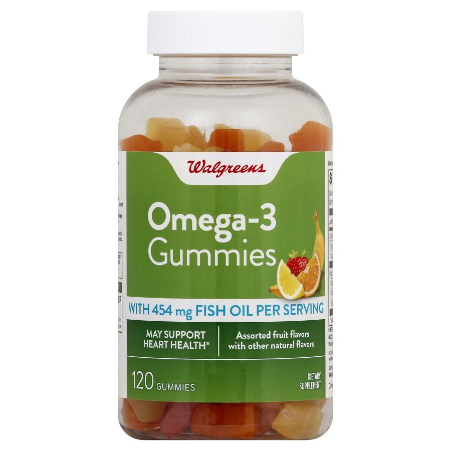 Walgreens fish oil with omega 3 gummies walgreens for Fish oil adhd