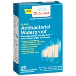 Walgreens Antibacterial Waterproof Bandages Clear