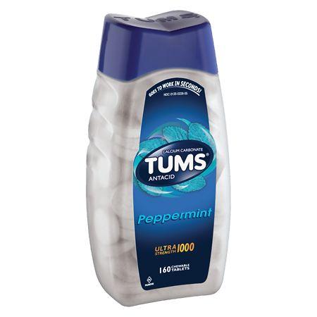 Tums Ultra Antacid Peppermint - 160 ea
