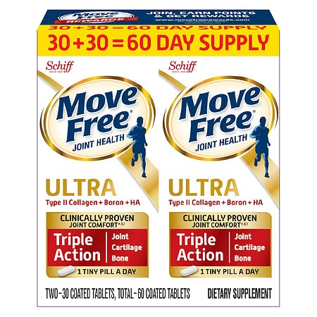 Schiff Move Free Ultra Triple Action Joint Health Supplement - 30 ea x 2 pack