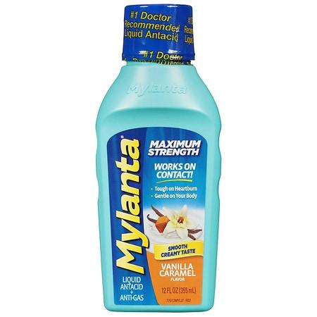 Mylanta Maximum Strength Liquid Antacid Vanilla - 12 oz.