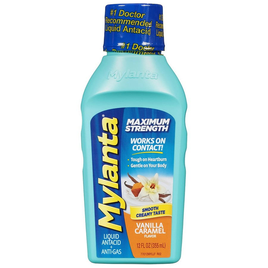 Mylanta Maximum Strength Antacid + Antigas For years, consumers and doctors have relied on the power and speed of Mylanta Maximum Strength Liquid to help soothe and relieve heartburn, acid indigestion and bothersome gas symptoms to feel better fast.